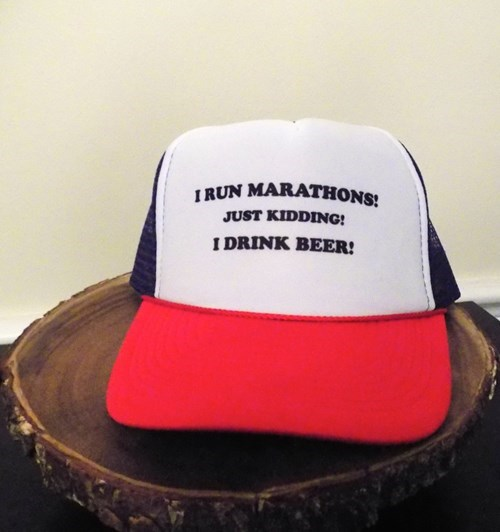 marathon runners don't drink beer