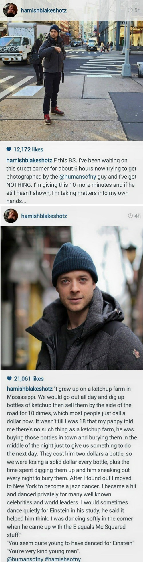 """This Guy Really Should Have Been in """"Humans of New York"""""""