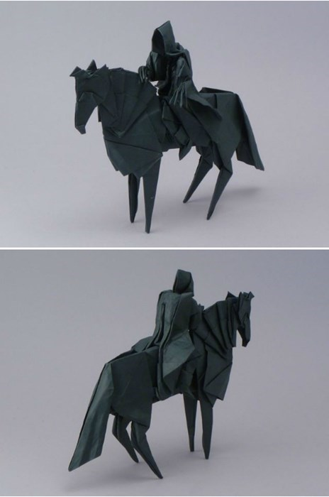 crafty,Lord of the Rings,origami,Nazgul