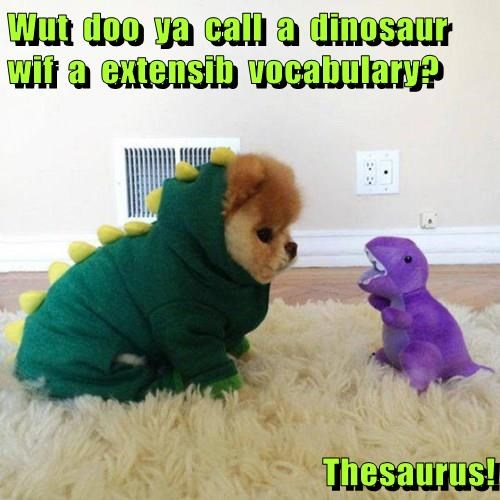 costume,dogs,dad jokes,dinosaur