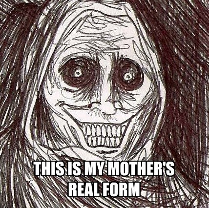 THIS IS MY MOTHER'S REAL FORM