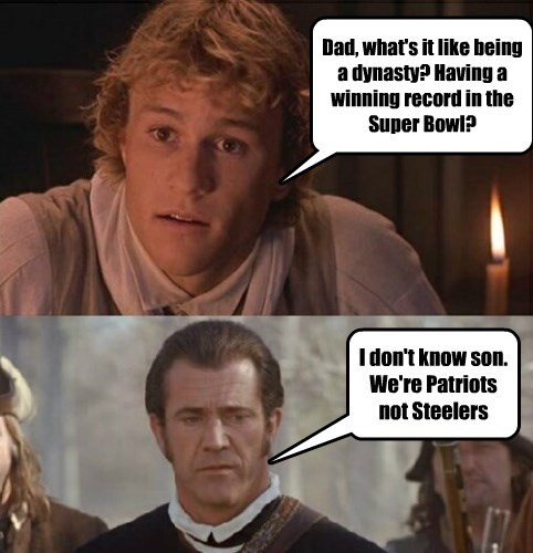 Dad, what's it like being a dynasty? Having a winning record in the Super Bowl?
