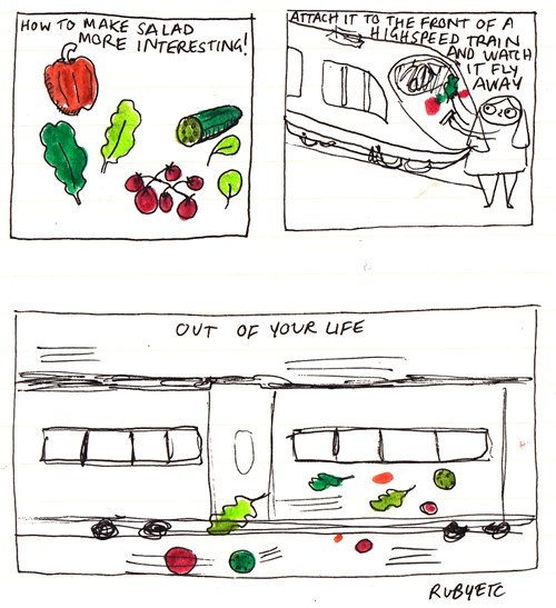 sad but true,trains,web comics,salad