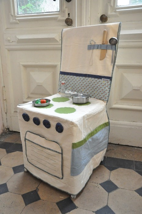Turn Any Chair Into a Play Kitchen!