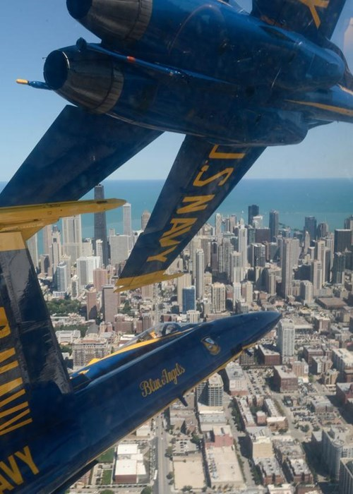 In Case You Never Noticed, the Blue Angels Fly REALLY Close Together