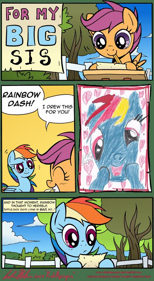 honesty,Scootaloo,rainbow dash,harsh