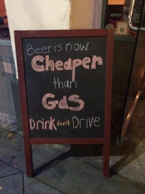 beer is cheaper than gas