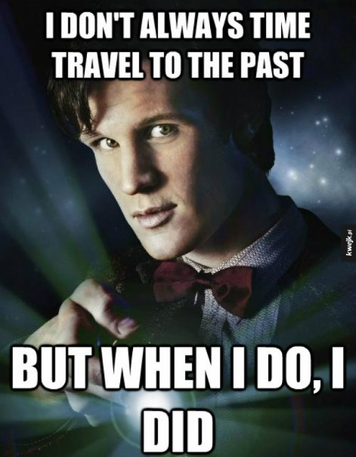 grammar,past tense,doctor who,time travel