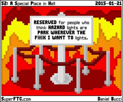 hell,parking,web comics
