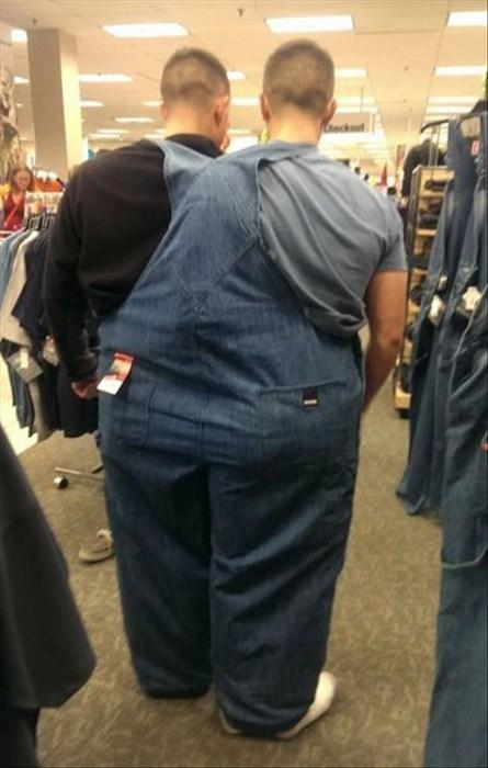 poorly dressed,big,overalls