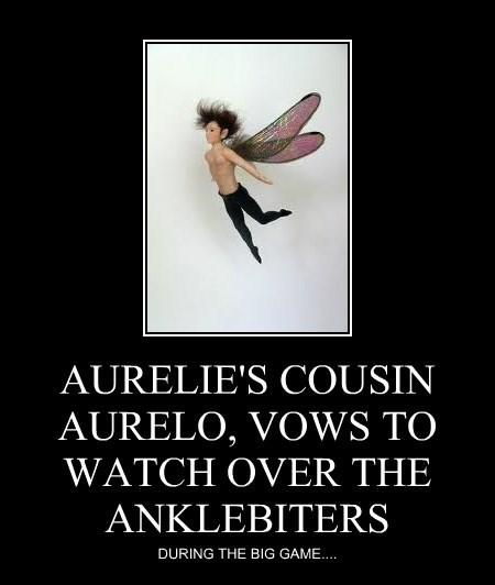 AURELIE'S COUSIN AURELO, VOWS TO WATCH OVER THE ANKLEBITERS