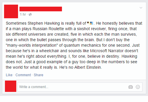 wrong,science,burn,stephen hawking,failbook