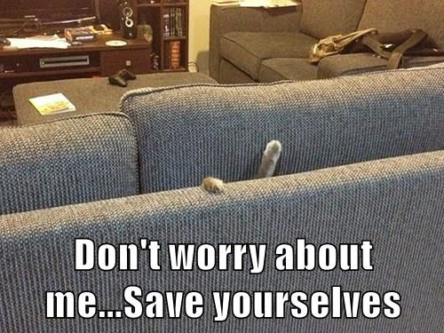 Don't worry about me...Save yourselves
