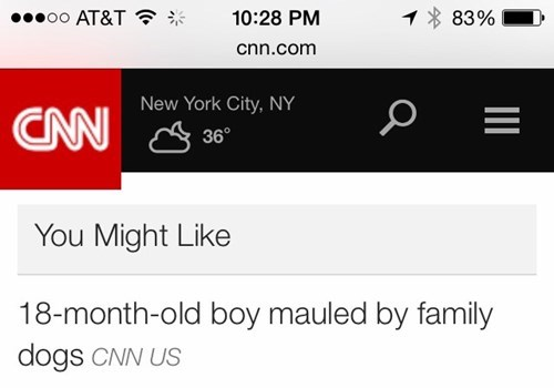 No, CNN, I Would Not Like That