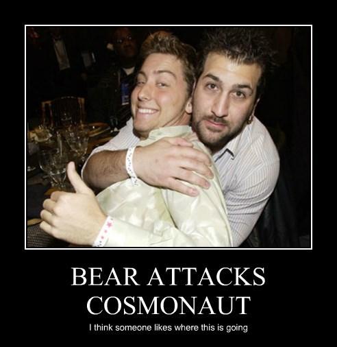 BEAR ATTACKS COSMONAUT