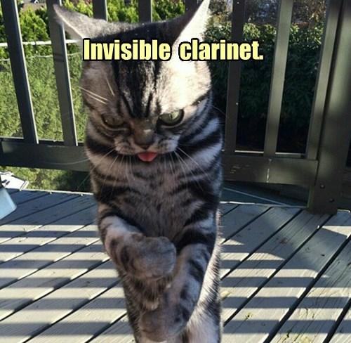 Invisible  clarinet.