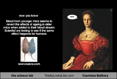 the science lab Totally Looks Like Countess Bathory