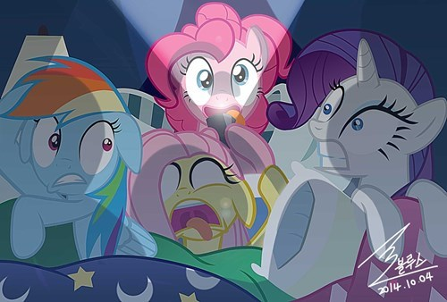 FanArt,slumber party,spoopy,pinkie pie
