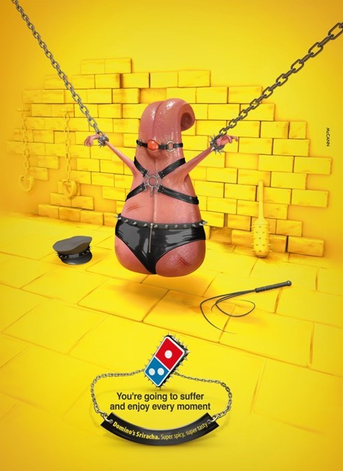 advertisement,whoops,dominos,Probably bad News,sexy times,weird