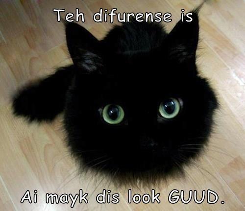 Teh difurense is  Ai mayk dis look GUUD.