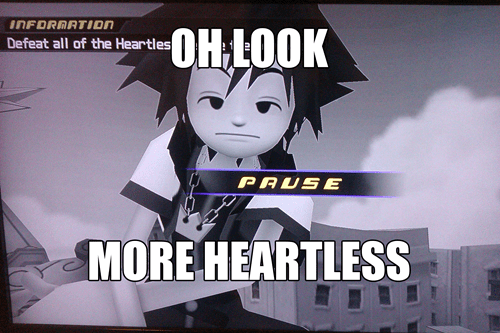 Sora,heartless,pause screen