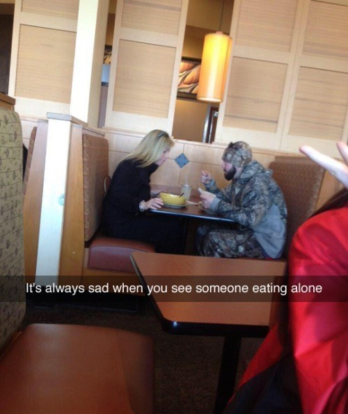 camouflage yourself while you're eating