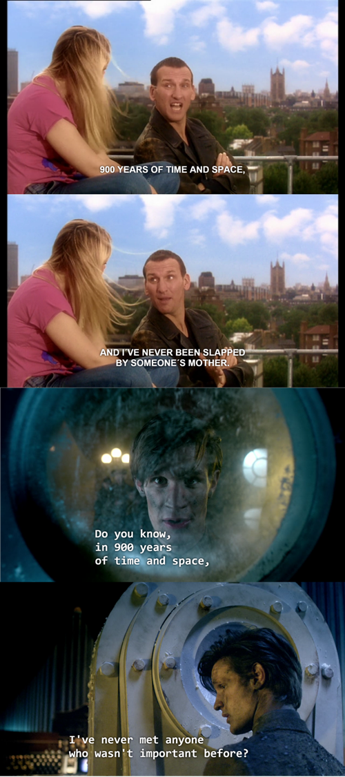 funny-doctor-who-9th-doctor-11th-doctor-callback-first-time