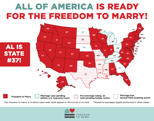 Now That Alabama (of All States) Has Decided to Legalize Gay Marriage, Let's Point and Laugh at the States That Haven't