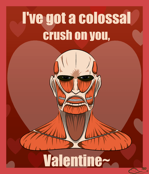 anime,fan art,attack on titan,Valentines day