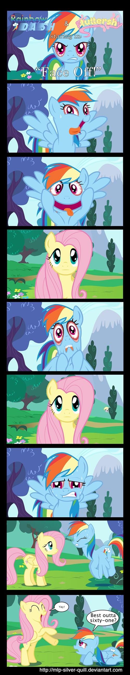 my-little-pony-rainbow-dash-fluttershy-staring-contest