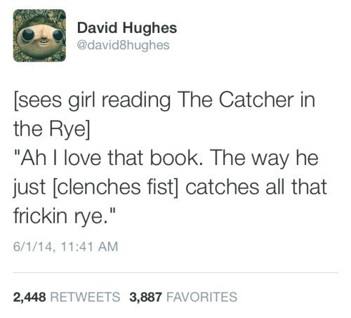catcher in the rye,book,funny