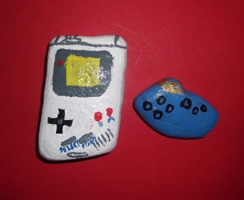 rocks,ocarina,gameboy
