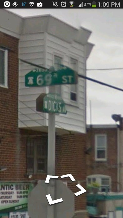 the corner of 69 and dicks