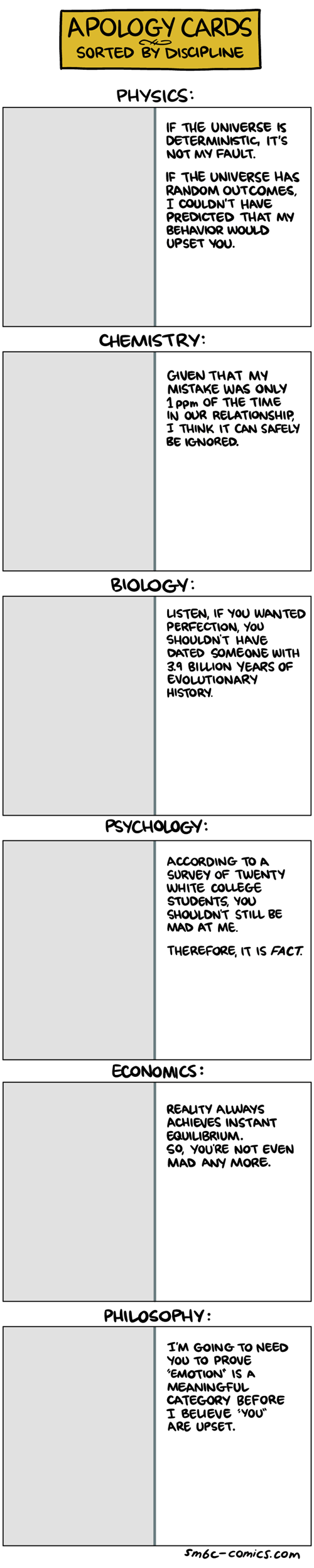 """""""Apology"""" Cards"""
