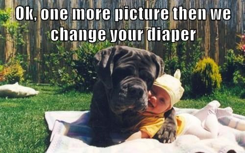 Ok, one more picture then we change your diaper