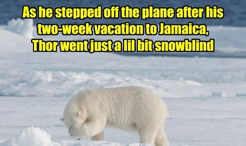 Or maybe he just couldn't face all that snow again