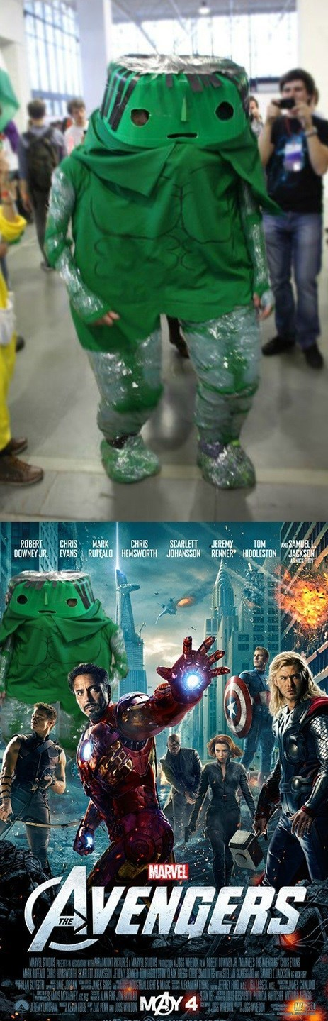 geeky cosplay terrible hulk