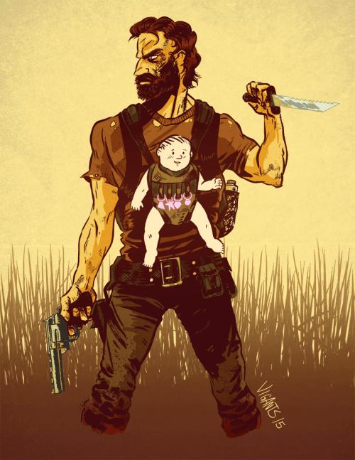 funny-walking-dead-rick-grimes-dad-apocalypse-art