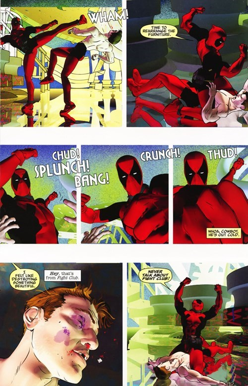 deadpool,Straight off the Page,fight club