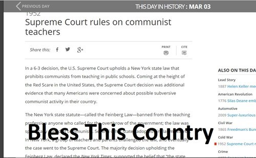 We Don't Want'ch You Teaching Us Your Commie Nonsense