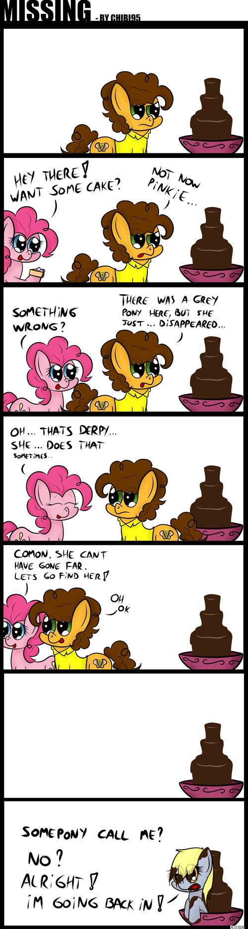 my-little-brony-derpy-hooves-missing-chocolate-fountain