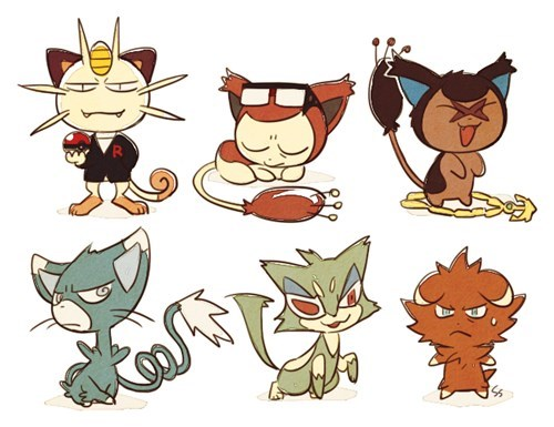 Pokémon Crime Bosses as Their Gen's Cat