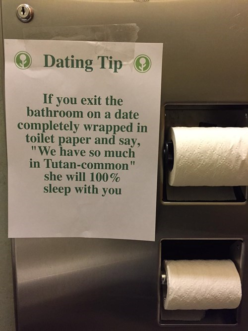 Dating Tip, Courtesy of a Fancy Restaurant