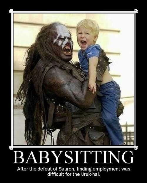 scary,babysitter,Lord of the Rings,funny