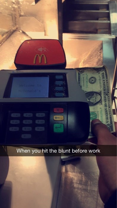 Don't smoke weed before work