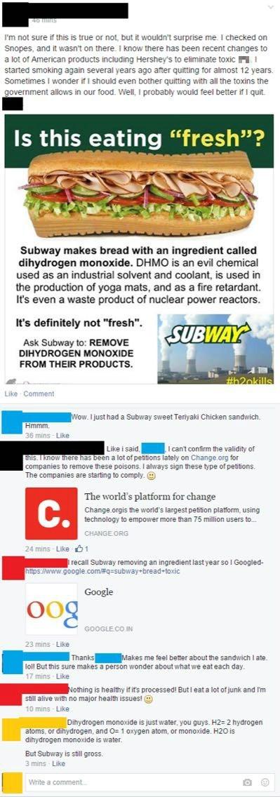 Beware That Dangerous Chemical Dihydrogen Monoxide!
