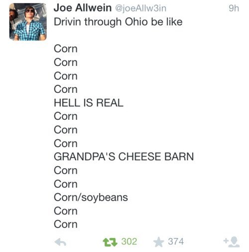 Ohio in a Nutshell (Corn Cob?)