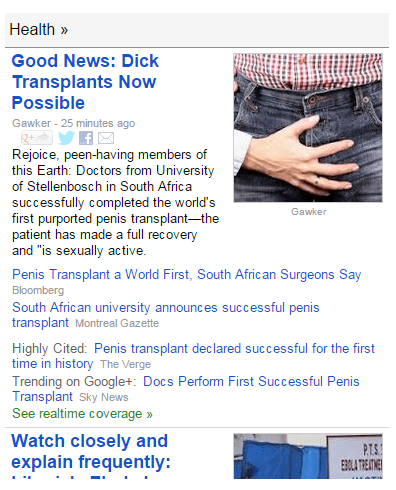 can you say peen in the news?