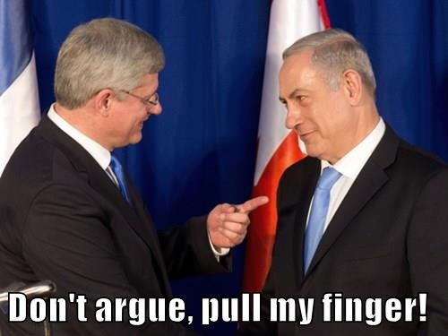 Don't argue, pull my finger!