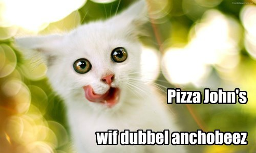 Pizza John's  wif dubbel anchobeez